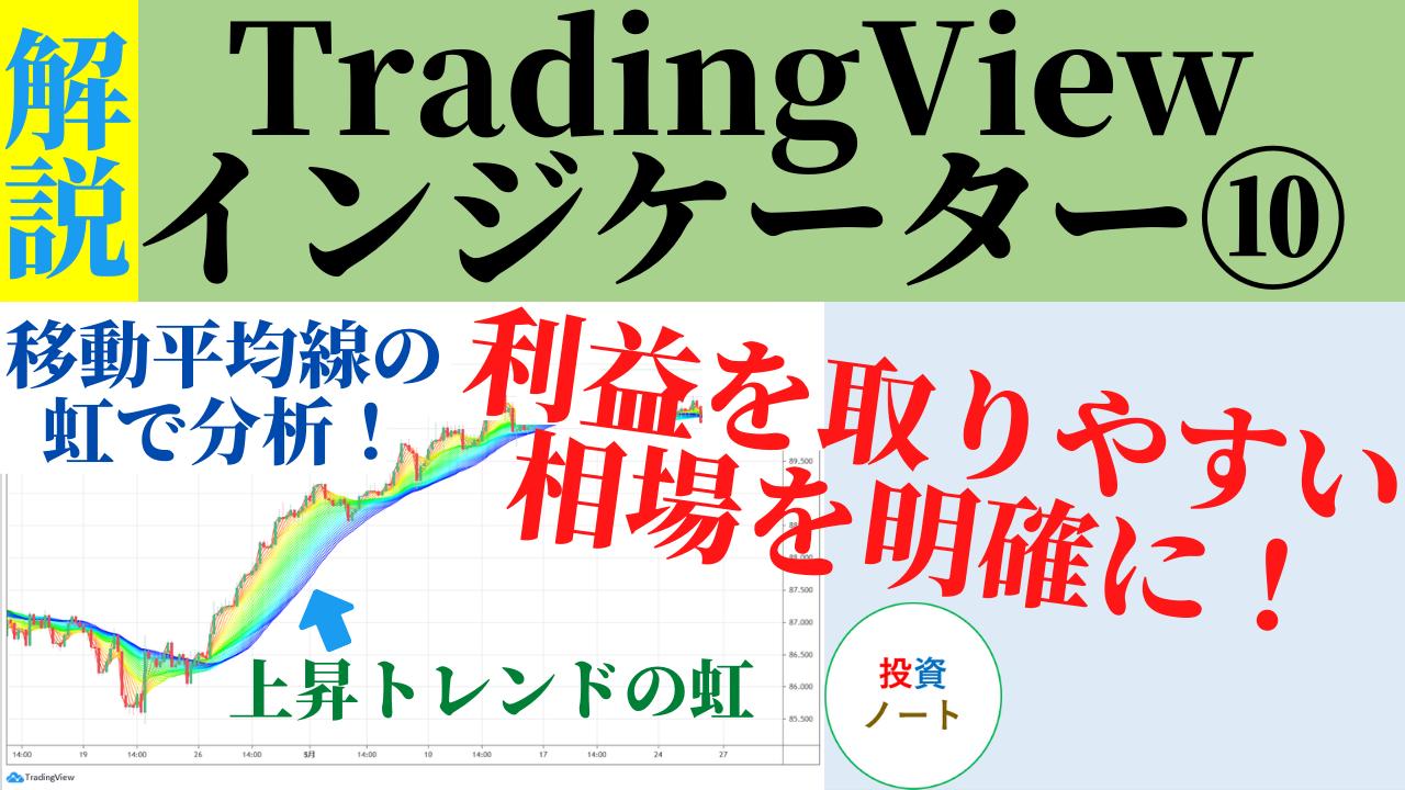 移動平均線の虹で相場分析するTradingViewインジケーター